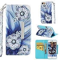 iPhone 8 の財布フリップケース [Luckyandery]カード収納 スタンド iPhone 8 横開 マネーポーチ 全面保護