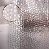 Waterproof Shower Curtain Liner EVA Thick Shower Curtain No Smell with Heavy Duty 3 Bottom Magnets, Stain Resistant Shower Li