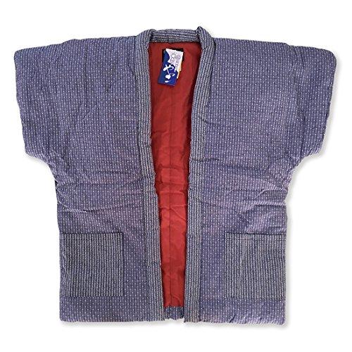 はんてん 刺繍婦人やっこ袖なし半天7320 紫パープル 久留米手づくり ちゃんちゃんこ