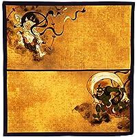 綿風呂敷 風神雷神 パープル 50×50cm