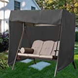boyspringg Patio Swing Chair Covers Garden Hammock Glider Cover Durable Waterproof UV Resistant Whether Protector Outdoor Fur