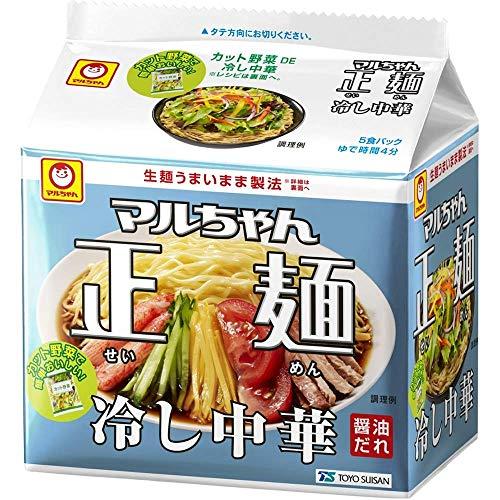 東洋水産 マルちゃん正麺 冷し中華 5食パック 5個
