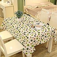 テーブルクロス、レストラン/家具/台所/居間に適したちり止めの綿のリネン長方形のヨーロッパの生地の茶テーブルクロス (色 : B, サイズ さいず : 120*160)