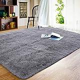 JOYFEEL Soft Fluffy Area Rugs Living Room Carpets for Nursery Decor Kids Room 5x8 Feet, Grey
