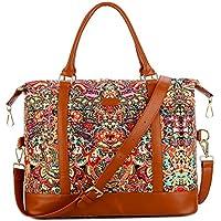 BAOSHA HB-28 Women Ladies Travel Weekender Bag Overnight Carry-on in Trolley Handle