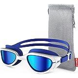 ZIONOR Swimming Goggles, G1 Polarized Swim Goggles UV Protection Watertight Anti-Fog Adjustable Strap Comfort fit for Unisex