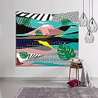 JSSFQK 緑の植物タペストリー3Dビジュアルタペストリー壁掛けタペストリーリビングルームの寝室の装飾 タペストリー (色 : D, サイズ さいず : 203x150)