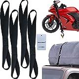 Thenewallhere Soft Loop Tie Down Straps for Motorcycle Handlebar,Car,Cargo,Truck,Boat,UTV,ATV,TV,Dirt Bikes Secure Trailer.He