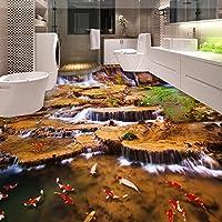 Mbwlkj 高品質な香り渓流バスルームのスタジオリビングルーム 3D床壁紙の壁画がある。-200Cmx140Cm