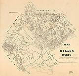 マップ: 1879のウィルソン郡。一般的な土地の状態のOffice texas|cadastral landowners|real property|texas|wilson郡