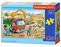 "Castorland B-13180 ""construction Works"" Classic Jigsaw Puzzle (120-piece)"