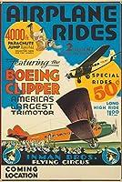 飛行機Rides–Boeing Clipperヴィンテージポスター(アーティスト:匿名) USA C。1929 24 x 36 Signed Art Print LANT-72641-710