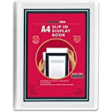 Headlineview A4 Display Book with 20 Clear Pocket Sheet Protectors and customiseable Front Cover Window Insert – Portrait – W