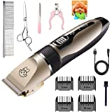 Pet Shaver Clippers Low Noise Rechargeable Cordless Electric Quiet Hair Clippers Set for Dogs Cats Pet