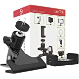 Clamp Mount for Camera Phone LED Ring Light Webcam Baby Monitor, Desk Clip Mount Bundle with Ball Head Adapter, Phone Holder