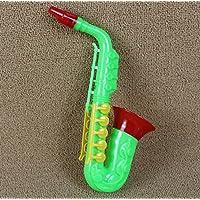 Wanrane キュート キッズ ミュージカル トイ 子供 音楽 教育玩具 サクソフォン ホーン (グリーン)