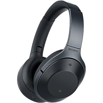 ソニー SONY ワイヤレスノイズキャンセリングヘッドホン MDR-1000X : Bluetooth/ハイレゾ対応 マイク付き ブラック MDR-1000X B
