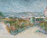Montmartre : behind the Moulin de la Galette–傑作クラシック–アーティスト: Vincent Van Gogh C。1887 24 x 36 Giclee Print LANT-69408-24x36