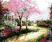 新着DIY油絵 数字油絵 数字キットによる絵画 - バル ー40x50cm - 家の装飾のギフト (美しい風景)) (木製フレーム, H517)