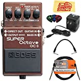 Boss OC-3 Super Octave Bundle with Power Supply Instrument Cable Patch Cable Picks and Austin Bazaar Polishing Cloth [並行輸入品]