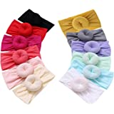 Qandsweet Baby Headbands Circle Bows Knotted Soft Silk Nylon Headwraps For Newborn Infant Toddlers Girl Kids