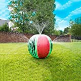 Vercico Inflatable Watermelon Sprinkler Melon Ball Toys for Toddlers 23'' Sprinkler Spray Water Ball Toy for Kids Adults Outd