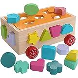 let's make 木製おもちゃ 形合わせ 木の車 木製パズル 知育玩具 赤ちゃんおもちゃ 指先訓練 型はめ車 男の子 女の子 幼児 ベビー 赤ちゃん 出産祝い 祝日 誕生日 ギフト プレゼント
