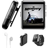 32GB Clip MP3 Player with Bluetooth, Sports Watch MP3 Player with Touch Screen, Mini MP3 Player with Headphones,Voice Recorde