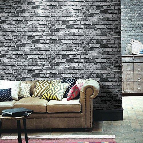 RoomClip商品情報 - HaokHome 69092 DIY レンガ タイル ブロック壁紙 壁用 おしゃれ ブリックパターン  ストーン 3D 屋内 ベッドルーム装飾 53cm×10m