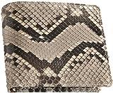 折り財布 メンズ パイソン 二つ折り ヘビ革 蛇革 本革 : ナチュラル