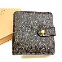 ルイヴィトン Louis Vuitton 二つ折り財布 ラウンドファスナー ユニセックス コンパクトジップ M61667 モノグラム 中古 Y068