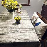 shopdp 北欧 復古木目調 テーブルクロス 綿麻 生地 吸水 耐熱 長方形 (140x200cm)