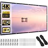 Projector Screen 120 inch 16:9 HD Foldable Anti-Crease Portable Projection Movies Screen for Home Theater Outdoor Indoor Supp