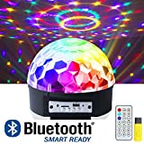 iHOVEN ステージライト 舞台照明 Bluetooth ワイヤレス スピーカー内蔵 マジックボール クリスタル RGB多色変化 エフェクトライト 回転ライト 水晶魔球 ミラーボール クリスマス パーティー DJ ディスコライト クラブ バー disco 雰囲気を盛り上げる 多機能 LEDライト 投影ライト 音楽再生 リモコンコントロール