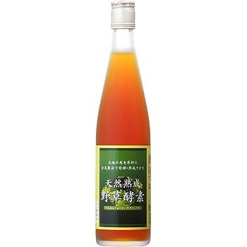 天然熟成 野草酵素 500ml × 1本(国産原料 原液100% 完全無添加 砂糖不使用)