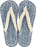 現代百貨 コットンサンダル ルポ ネイビー メンズ フリーサイズ 約25~27cm NAVY 7407-07
