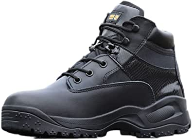 [リンゼ] 安全靴 作業靴 ワークシューズ 耐滑ソール メンズ セーフティーシューズ 耐滑 衝撃吸収 耐摩耗 ワーク シューズ 通気 耐久性 通動 ハイキングシューズ パフォーマンス 軽量 滑り止め 遠足 タクティカル 戦闘靴