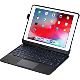 I.N.I iPad Keyboard Case for iPad 2018 (6th Gen) - iPad 2017 (5th Gen) - iPad Pro 9.7 - iPad Air 2&1-360 Rotatable - Wireless