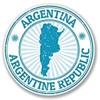 2 x 10cm アルゼンチン - ノートPCやタブレット用ビニールステッカー #4120