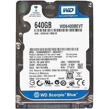 WESTERN DIGITAL 2.5インチ内蔵HDD 640GB Serial-ATA3.0Gb 5400rpm 8MB WD6400BEVT