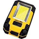 Warsun KS-08 Portable LED Rechargeable Work Light,Magnetic Base & Hanging Hook,30W 1200Lumens Super Bright,5000K,for Car Repa