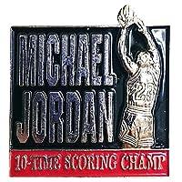 Upper Deck(アッパーデック) NBA シカゴ・ブルズ マイケル・ジョーダン 引退記念 ピンバッジ 10タイム スコアリング チャンプ - [並行輸入品]
