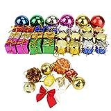 Rocita クリスマスツリー 飾りセット オーナメント デコレーション ティンセル ガーランド 雪片 松かさ 蝶結び クリスマスの手紙 108パック 108pcs