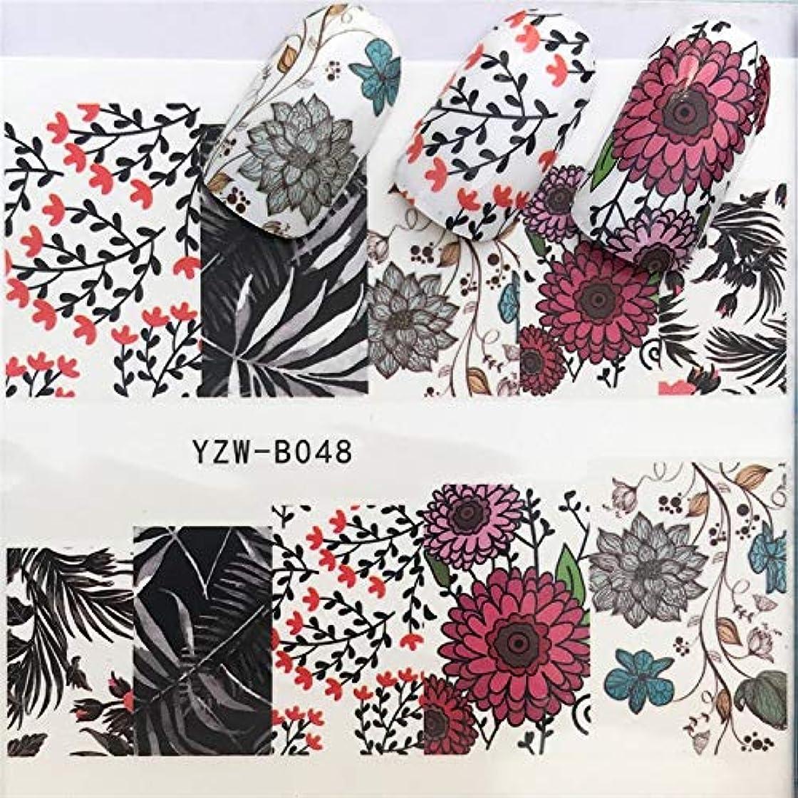 手足ビューティーケア 3個ネイルステッカーセットデカール水転写スライダーネイルアートデコレーション、色:YZWB048