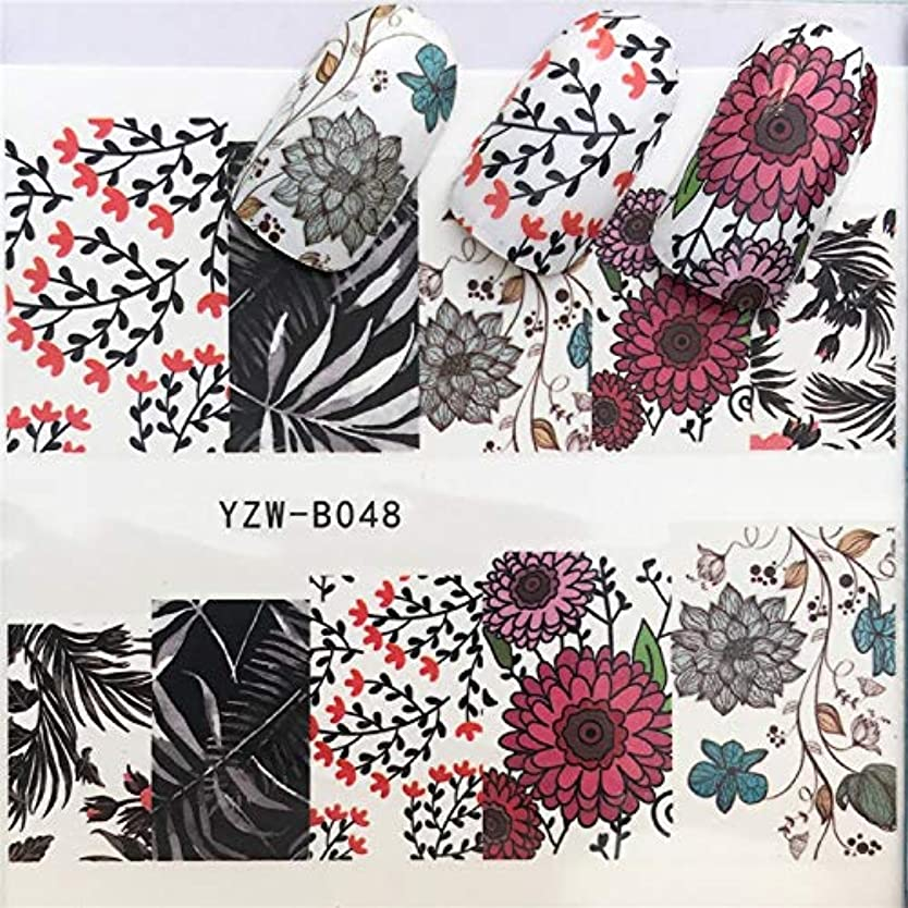 パーツ韓国新鮮な手足ビューティーケア 3個ネイルステッカーセットデカール水転写スライダーネイルアートデコレーション、色:YZWB048