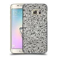 オフィシャル Cat Coquillette アブストラクト・ブラック パターン3 ハードバックケース Samsung Galaxy S7 edge