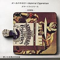 iPhone6Plus iPhone6sPlus オールドポスター Admiral Cigarettes スマホケース 手帳型 全機種対応 ケース 人気 絵画 TPU レザー 個性的 あいふぉん 丈夫 耐衝撃