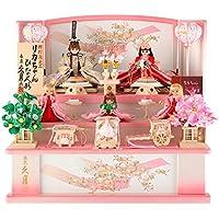 雛人形 リカちゃん 久月 ひな人形 収納飾り 三段飾り 五人飾り シリアル付 h303-ri-2766