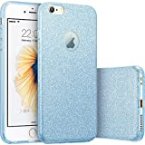 Imikoko iPhone6 6s ケース キラキラケースbling-bling case for Apple iPhone 6s 6 衝撃吸収 (Blue 2)