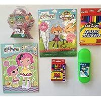 Lalaloopsy Mini Haley Galaxy人形2色&アクティビティブック、W / Oodles ofゲーム&パズル、crazy-z-artマーカー( 10 ) andクレヨン( 24 ) Plus携帯ケースクレヨン再生バンドル( 5 Items )